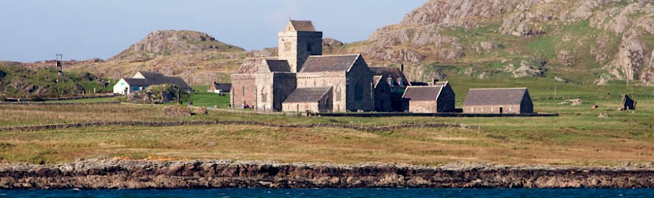 Iona Abbey from the sea